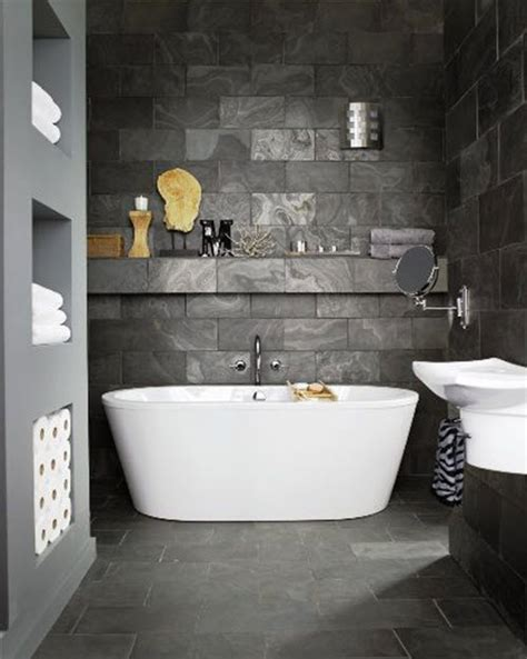Slate Tile For Bathroom by 37 Grey Slate Bathroom Wall Tiles Ideas And Pictures