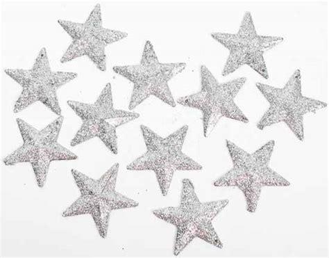 silver glitter stars tableshelf decorations christmas