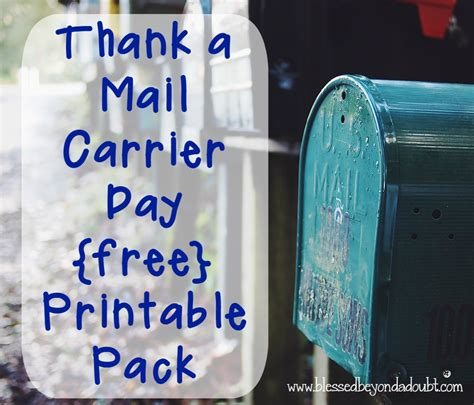 thanks mail carrier warming up thank a mail carrier day printable pack it s feb 4th