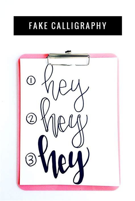 How To Learn Hand Lettering & Fake Calligraphy  Child At Heart Blog