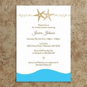 bridal shower invitations free printable bridal shower With printable beach themed wedding invitations