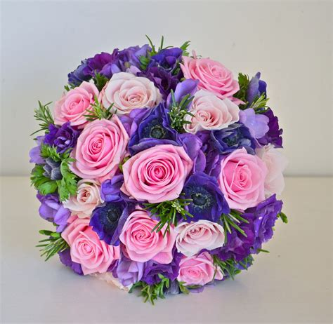 wedding flowers blog jonquils pink  purple wedding