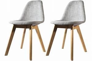 Chaise En Tissu : lot de 2 chaises scandinave en tissu grise norway design sur sofactory ~ Teatrodelosmanantiales.com Idées de Décoration