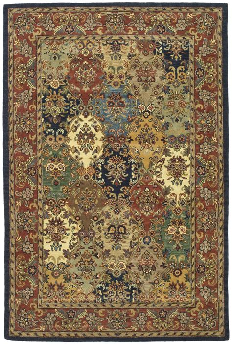what does safavieh safavieh heritage hg911a multi and burgundy area rug