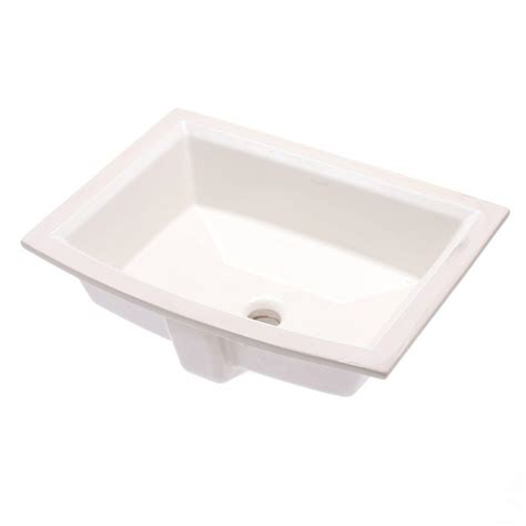 kohler archer vitreous china undermount bathroom sink with overflow drain in biscuit with