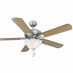 Harbor breeze ceiling fan with light and remote : Harbor breeze crosswinds in brushed nickel downrod