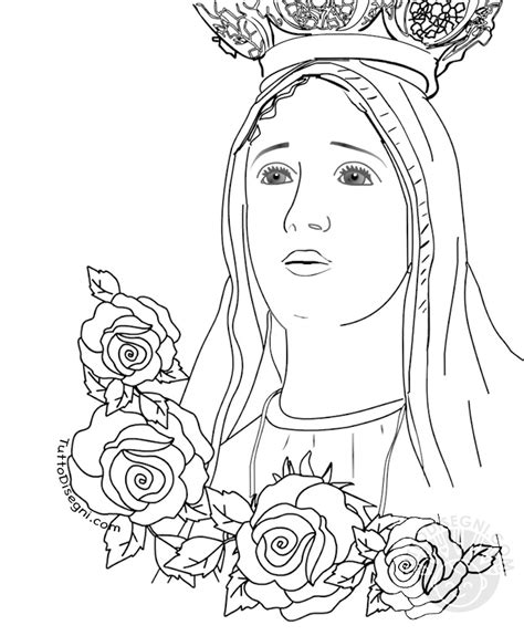 disegni madonna con bambino da colorare madonna di fatima con disegno da colorare