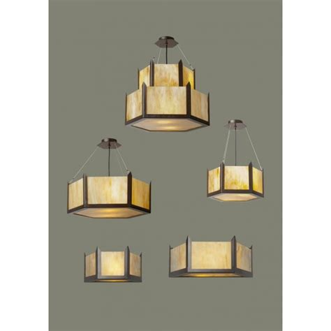 deco uplighter ceiling pendant with hexagonal