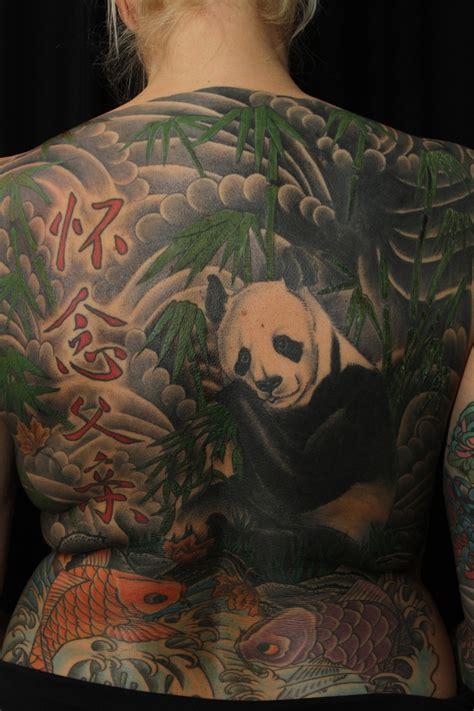 panda bear full  tattoojpg