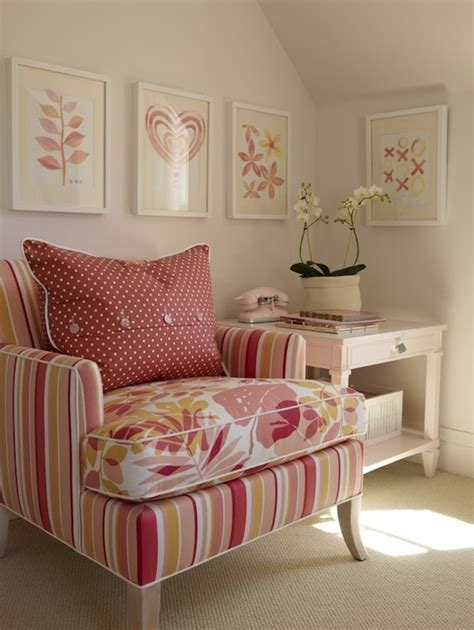 pink chairs for bedrooms pink and orange chair contemporary bedroom