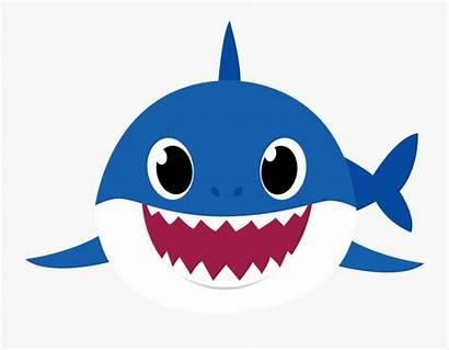 Shark Clipart Daddy Transparent Background Azul Mama
