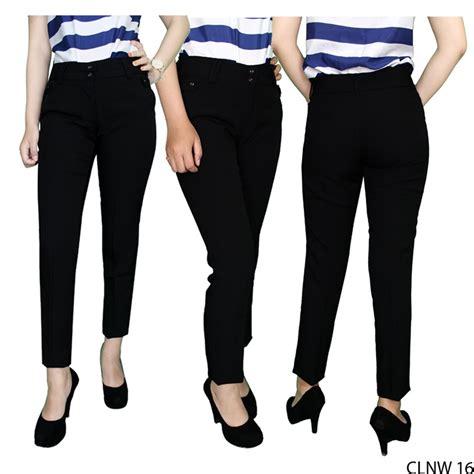 jual gfp celana bahan wanita untuk kerja katun hitam clnw 16 di lapak ira store irastore