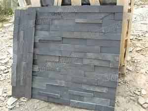 Grande Ardoise Murale : plaquette de parement mural en ardoise noire ardoise id de produit 500000118000 ~ Preciouscoupons.com Idées de Décoration