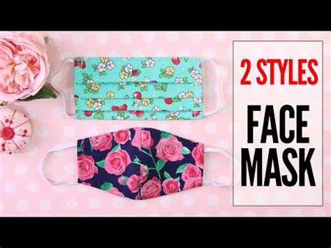 diy mask face mask  styles fabric face mask pattern