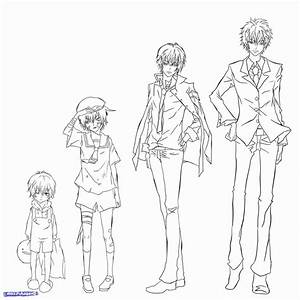 How To Draw Manga Male Body Proportions