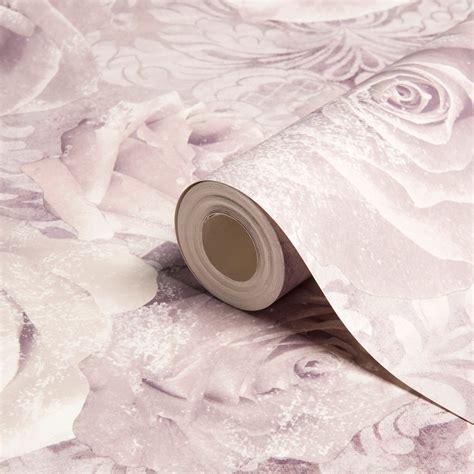 reverie mauve purple floral wallpaper departments