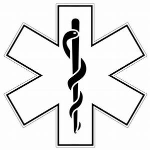 White Star of Life Reflective Helmet Decal Police Fire EMS Viny Graphics/Stickers/Decals – dkedecals