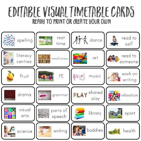 Why And How To Use Visual Timetable Effectively  Visual Timetable, Schedule Board And School