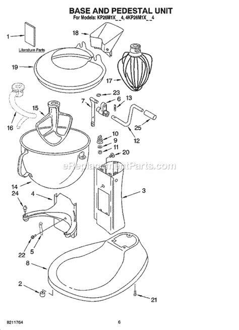 kitchenaid kpmxmc parts list  diagram