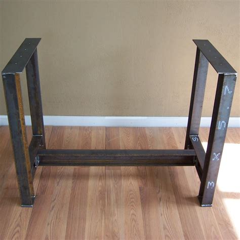 kitchen island table legs industrial i beam kitchen island dining table bar base rustic steel le modern iron works