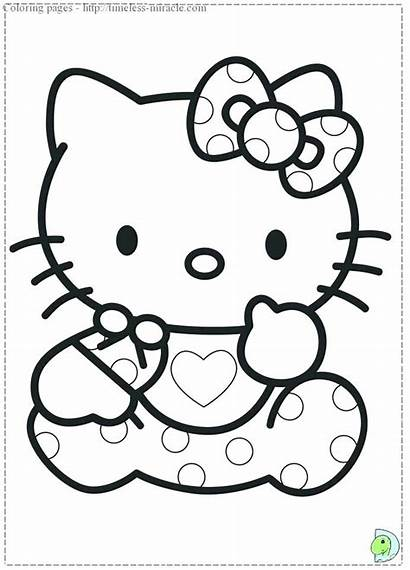 Kitty Hello Coloring Pages Printable Colouring Nerd