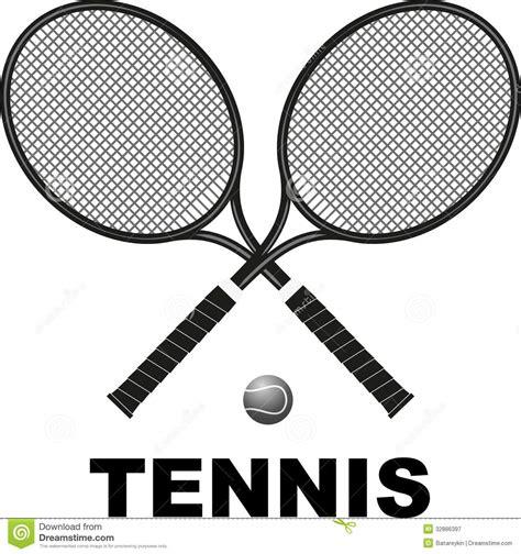 tennis rackets  ball stock illustration illustration  icon