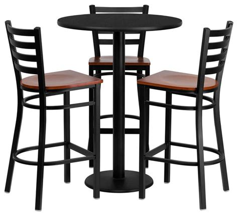 30 in bar set with cherry wood seat contemporary