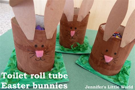 cardboard tube bunny egg holders fun family crafts