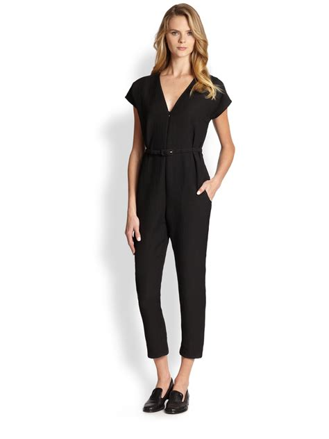 comey jumpsuit comey belted jumpsuit in black lyst