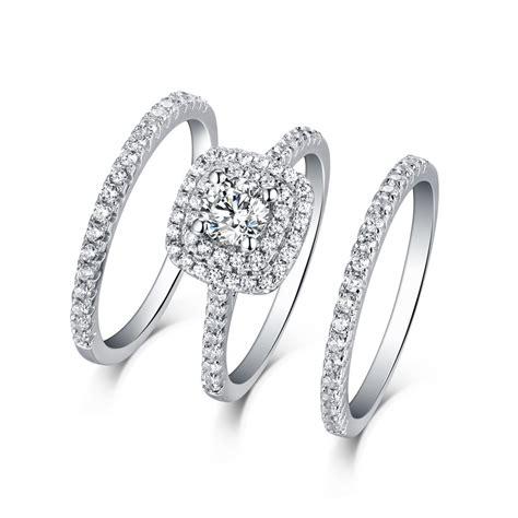tinnivi sterling silver round cut created white sapphire