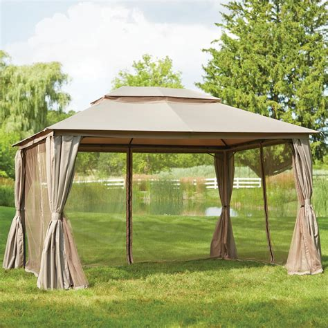 hton bay gazebo with top and mosquito netting