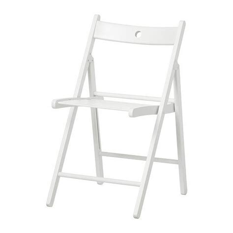 ikea white wooden folding chair terje for sale in