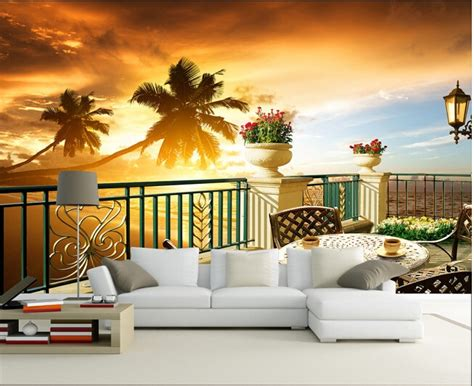 buy custom  photo wallpaper sunset