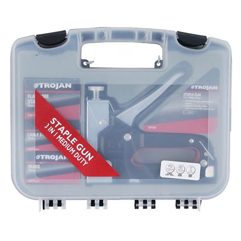 trojan 3 in 1 staple gun set bunnings warehouse