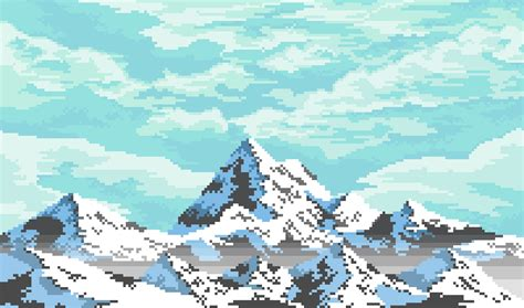 pixilart  mountains   bit adventure