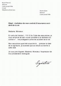 Résilier Une Assurance Vie : mod les de lettres de r siliation pour r silier un contrat ~ Medecine-chirurgie-esthetiques.com Avis de Voitures