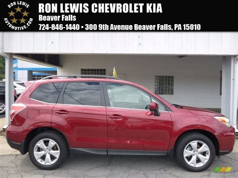 red subaru forester 2016 2016 venetian red pearl subaru forester 2 5i limited