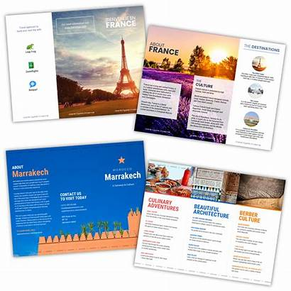 Brochure Travel Templates Template Features Showing Venngage