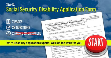 forms of disability ssa 16 social security disability application form