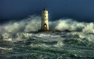 Image Gallery lighthouse storm at sea