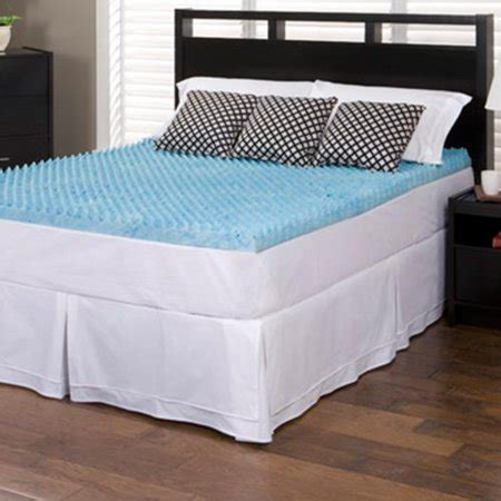4 inch mattress topper slumber solutions gel highloft 4 inch memory foam mattress