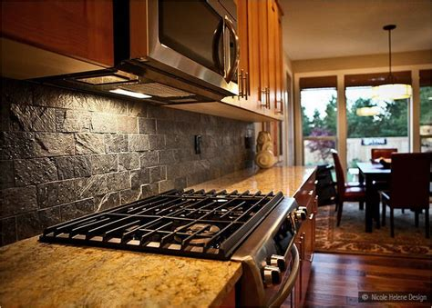 brown subway tile kitchen backsplash subway slate backsplash tile brown granite countertop