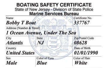 How To Get A Boating License In Ny by New Jersey Boating License Boat Safety Course Boat Ed 174