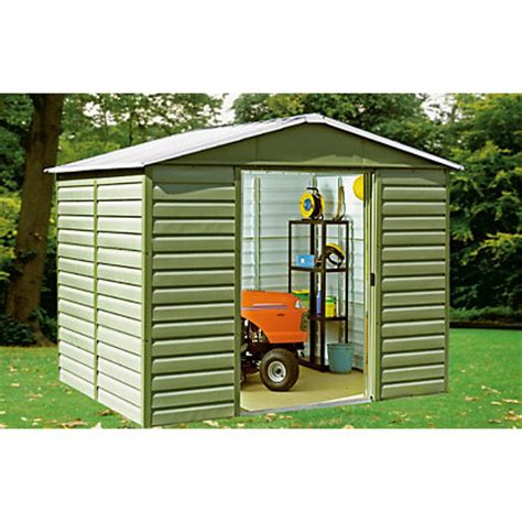 rowlinson woodvale metal shed 10ft x 6ft