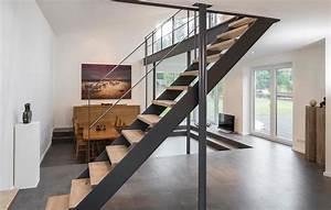 Stahltreppe Mit Holzstufen : treppenbau vo plz 23858 reinfeld gerade hpl wangentreppe mit holzstufen finden sie ~ Orissabook.com Haus und Dekorationen