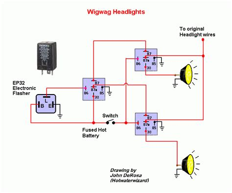 Wig Wag Flasher Relay Wiring Diagram by Tridon Ep 32 Flasher Relay