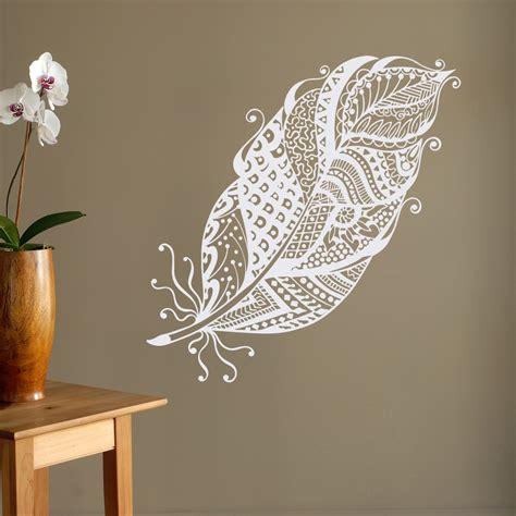 wall decor boho feathers wall decal feather wall decor bohemian bedroom