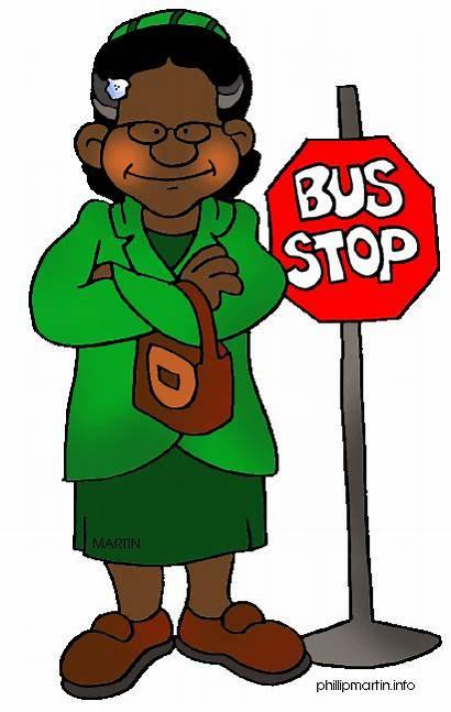 Rosa History Clipart Clip Parks Month Bus