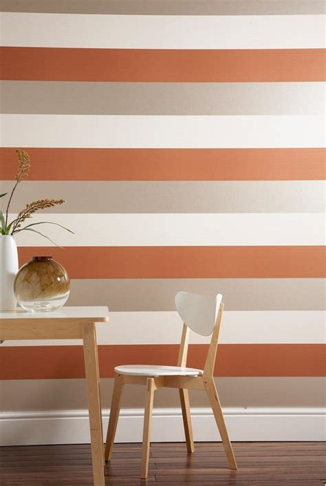 figaro orange striped wallpaper designer stripes wall