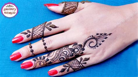 apply simple finger mehndi designs henna tattoo
